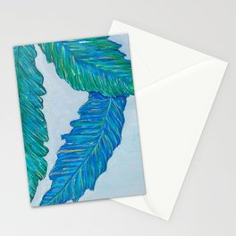Blue feather Stationery Cards