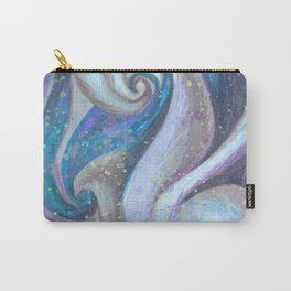 Swirl (blue and purple) Carry-All Pouch