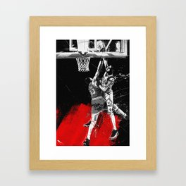 Pippen Over Ewing Framed Art Print