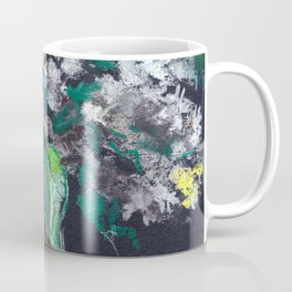 Still-life. Bouquet of white lilac flowers on black background. Pastel drawing. Coffee Mug