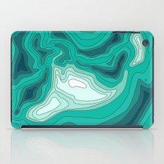 ocean dephts map iPad Case