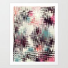 Retro Light Chaos Art Print