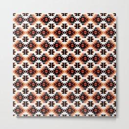 Reto Geometric in white Metal Print