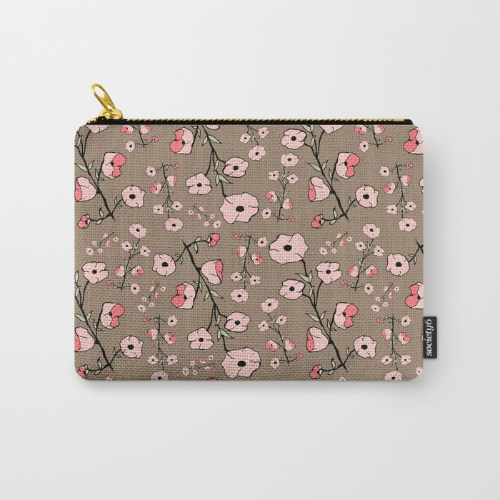 Stylized Sakura Carry-All Pouch