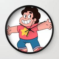 steven universe Wall Clocks featuring Steven Universe by EsthersHouse