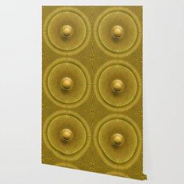 Golden Sunrise Pattern Wallpaper