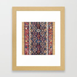 Kolyai  Antique South Kurdistan Persian Rug Print Framed Art Print