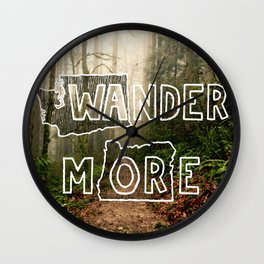 Wander More - Forest Wall Clock