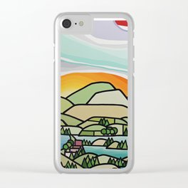 Lakes and Orchards Clear iPhone Case
