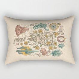 The Desert Sunflowers | Dinosaur Southwest Adventure Art | Natural History Explorer Rectangular Pillow