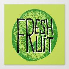 Kiwi fresh fruit illustration quotes Canvas Print
