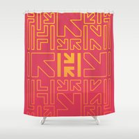 pacman Shower Curtains featuring PACMAN by HERENOW
