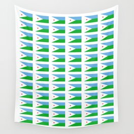 flag of Djibouti -djiboutian,Jabuuti,Gabuuti,Djiboutien,punt,aksum,aden Wall Tapestry