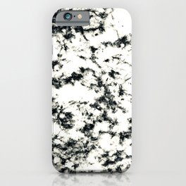 Epic Black and White Harlequin Marble Pattern iPhone Case