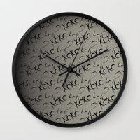 xoxo Wall Clocks featuring XOXO  by GoAti