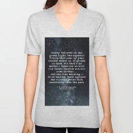 So we beat on, boats against the current - Gatsby quote Unisex V-Neck