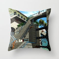Optical Illusion - Tribute to Escher Throw Pillow