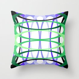 Interwoven Rings by Freddi Jr Throw Pillow