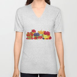 Organic Farm Market. Berries. Unisex V-Neck