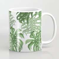 palms Mugs featuring Monstera Deliciosa by Laura O'Connor