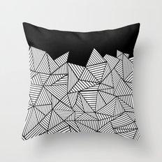 Abstraction Mountain Throw Pillow