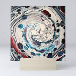 Draining. A fluid art painting by Sharon Perry. Mini Art Print