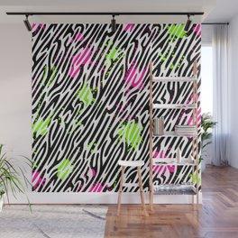 Wild Zebra Print Wall Mural