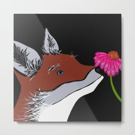 Young Fox Metal Print