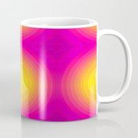 70s Mugs featuring Flashy 70s,pink by MehrFarbeimLeben