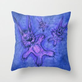 Record Cover for some Jazzed Rabbits, Blueish. Throw Pillow
