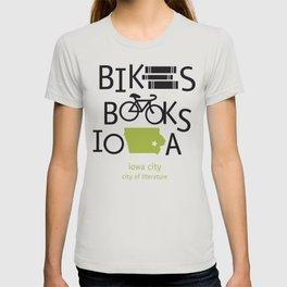 Bikes Books Iowa T-shirt