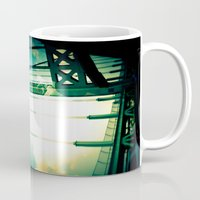 bridge Mugs featuring Bridge by Abby Strobel