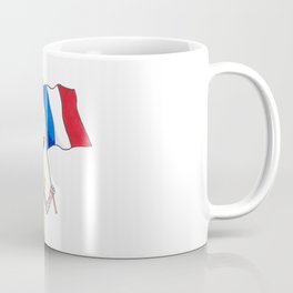 French mouse with bread and flag Coffee Mug