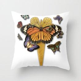 BUTTERFLIES ICE CREAM Throw Pillow
