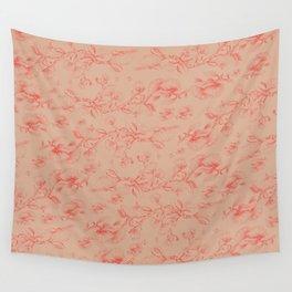 Red & Orange pohutukawa pattern Wall Tapestry