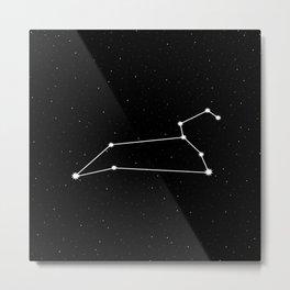 Leo Star Sign Night Sky Metal Print