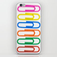 Colorful Paperclips iPhone & iPod Skin