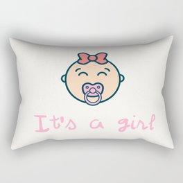 It's a baby girl! Rectangular Pillow