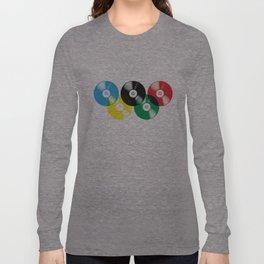 Olympic Rings Vinyl Record Set Long Sleeve T-shirt