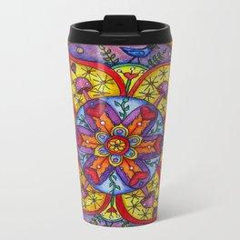 Stellar Shrooms by DeeDee Draz Metal Travel Mug