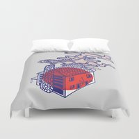 cabin Duvet Covers featuring Cabin by Devin Soisson