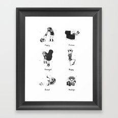 The Many Moods of a Hero Framed Art Print