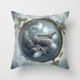 Jelly Ninfae Throw Pillow