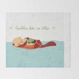 Cuddles Like No Otter Throw Blanket