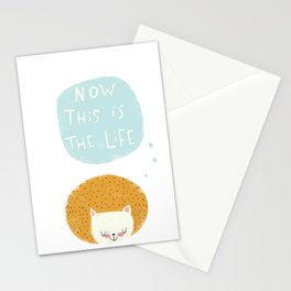 now this is the life Stationery Cards