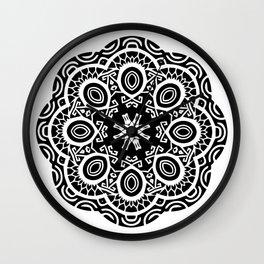 Polynesian style mandala tattoo 2 Wall Clock