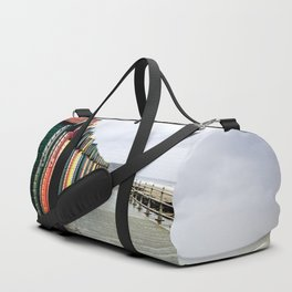 Whitby beach huts Duffle Bag
