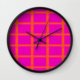 Alium 3 - Delayed Color Contrast Optical Illusion Grid Wall Clock