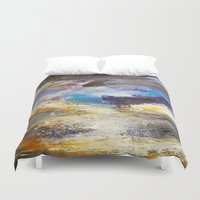 number Duvet Covers featuring Cloudy Skies number 3 by James Peart