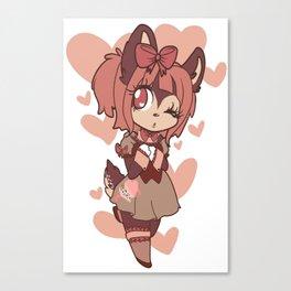 coffee deer sweetheart Canvas Print